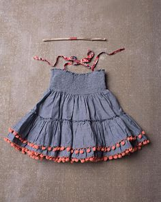Jak & Peppar Laney Halter Top (Converts to a skirt) – Zandy Zoos Baby Girl Dresses Diy, Baby Girl Frocks, Smocked Baby Dresses, Little Girl Outfits, Kids Outfits Girls, Girls Dresses Sewing, Frock Patterns, Baby Girl Dress Patterns, Girls Frock Design