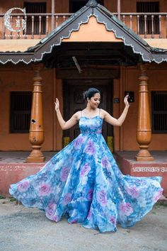 Actress Anasuya Cross Long Legs Photos In Tight Blue Jeans Kurta Designs, Blouse Designs, Long Gown Dress, Anarkali Dress, Long Frock, Lehenga Choli, Indian Gowns Dresses, Blue Dresses, Sleeveless Dresses