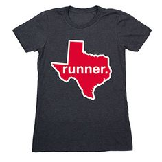 Womens Everyday Runners Tee Texas Runner (Red/White) - Show off your pride for Texas with this great Texas Runner State Tee. Large?