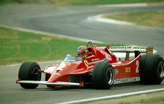 Gilles Villeneuve ~ Ferrari 126C ~ 1980 Italian Grand Prix, Imola #Request @ScuderiaFerrari