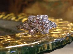 It's the little things...like the unique detail in this engagement ring.   Ring available at Sissy's Log Cabin Facebook.com/amberatsissys Instagram.com/amberatsissys