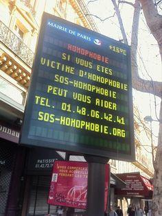 Ligne d'écoute de SOS Homophobie