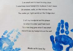 handprint poem for Mother's Day, Grandparent's day poem, mother's day card for preschool, DIY Mother's Day craft