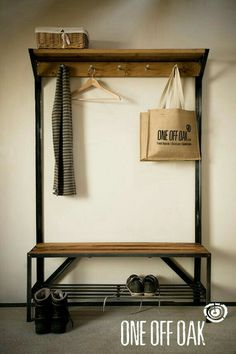 Hallway Bench Seat With Coat Rack. Hallway Coat Rack And Bench Foter. RC Handyman Services Mud Room Built In Oak Bench W . Home Design Ideas Hall Coat Rack, Coat Rack Bench, Bench Coats, Coat Racks, Coat And Shoe Rack, Shoe Rack Bench, Diy Coat Rack, Pipe Furniture, Industrial Furniture