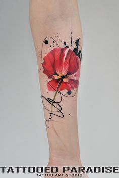 Amazing And Gorgeous Watercolor Tattoo Ideas You'll Love; Amazing And Gorgeous Watercolor Tattoo Ideas Watercolor Poppy Tattoo, Poppies Tattoo, Watercolor Poppies, Tattoo Flowers, Watercolor Artists, Watercolor Mandala, Simple Watercolor, Watercolor Sunflower, Flower Tattoo On Side