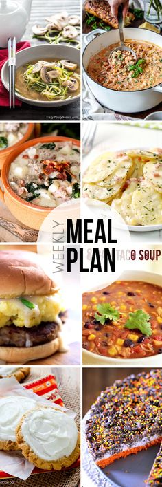 Easy Meal Plan #21 - Use this for dinner, dessert, and breakfast ideas to feed your family this week!