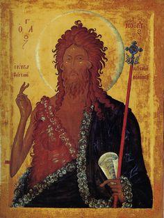 John the Baptist Byzantine Art, Byzantine Icons, Orthodox Catholic, Christ Pantocrator, Russian Icons, Best Icons, John The Baptist, Religious Icons, Advent