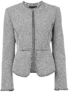 Shop Alexander Wang tweed peplum jacket.