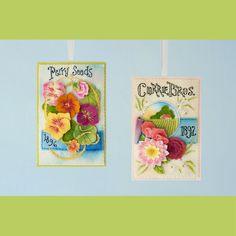 Set of TWO Seed Annual Felt Ornament PDF Patterns di LolliAndGrace