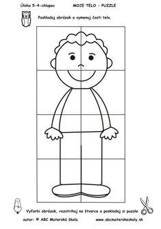 Color and make a puzzle Senses Activities, Kindergarten Activities, Learning Activities, Preschool Activities, Preschool Printables, Preschool Crafts, Body Parts Preschool, All About Me Preschool, Halloween Activities