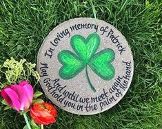 The perfect personalized Irish memorial gift - treated to last for many years indoor and outdoors! Gifts For Dad, Fathers Day Gifts, Personalized Garden Stones, Grandmother's Day, Memorial Garden Stones, In Memory Of Dad, Bereavement Gift, Irish Blessing, Baby Memories
