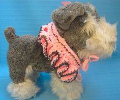 Pet Ruffle Collar Dog Cat Pale Pink Small Handmade Crochet by Bren by HandCraftedByBren on Etsy