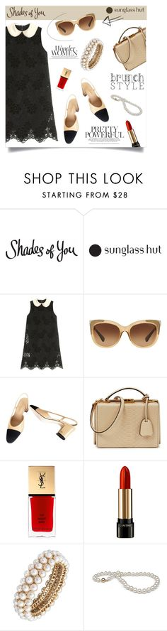"""""""Shades of You: Sunglass Hut Contest Entry"""" by anchilly23 ❤ liked on Polyvore featuring Dolce&Gabbana, Coach, Chanel, Mark Cross, Lancôme and Anne Klein"""