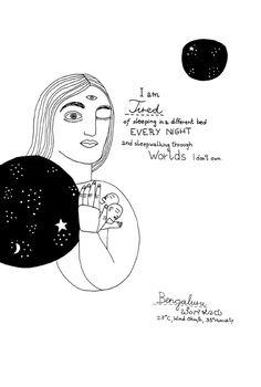 Sleep Dream, New Travel, Travelogue, Book Illustration, Drawing S, Zine, Iran, Oriental, Editorial