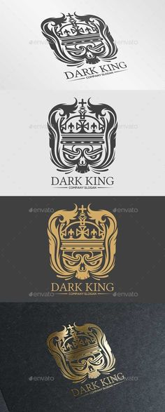 Dark King — Vector EPS #identity #company • Available here → https://graphicriver.net/item/dark-king/10285547?ref=pxcr