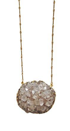 amethyst CLUSTER necklace - big