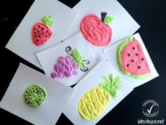 Make your portray with three substances - Wooloo Summer Crafts For Kids, Summer Kids, Art For Kids, Fruit Crafts, Art Projects, Projects To Try, Diy And Crafts, Arts And Crafts, Puffy Paint