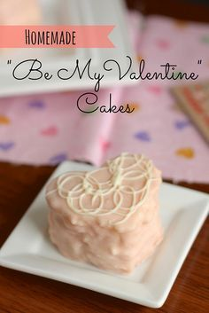 """Homemade """"Be My Valentine"""" Cakes: These creme-filled, heart-shaped cakes are a homemade version of the beloved seasonal Little Debbie """"Be My Valentine"""" Cakes."""