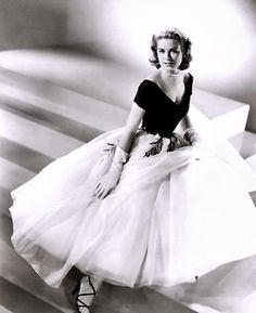 """Grace Kelly costumed by Edith Head for Alfred Hitchcock's """"Rear Window"""""""