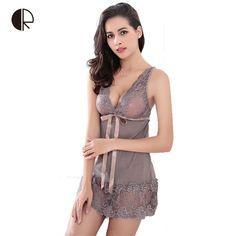 613b0ca75ba Women Sexy Nightwear 5 Colors Plus Size S~XXL Lace Nightgown Sleepwear  Dress G-