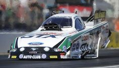 John Force makes the first three-second pass at Pomona, a 3.9995 on November 9, 2013