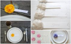 Place settings/name cards Hay Wedding, Wedding Blog, Wedding Ideas, Wedding Things, Diy Place Cards, Paper Place, Table Cards, Rustic Chic, Wedding Details