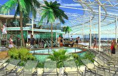 Oasis of the Seas solarium whirlpool - Royal Caribbean