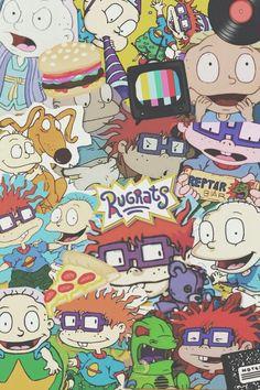 Wallpaper Rugrats - Mode Tutorial and Ideas Cartoon Wallpaper Iphone, Iphone Background Wallpaper, Retro Wallpaper, Aesthetic Iphone Wallpaper, Disney Wallpaper, Screen Wallpaper, Aesthetic Wallpapers, Rugrats, Cartoon Network 90s