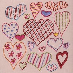 great embroidery patterns from Shiny Happy World