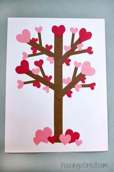 Flowering Heart Tree ~ Valentines Day Paper Tree Craft for Kids - Crafts All Over Valentine's Day Crafts For Kids, Valentine Crafts For Kids, Valentines Day Activities, Holiday Crafts, Valentines Crafts For Kindergarten, Homemade Valentines, Valentine Ideas, Children Crafts, Valentine Cards