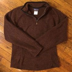 Patagonia Better Sweater 1/4 zip Warm, soft, and so cozy! Beautiful marled brown Synchilla fleece. Perfect condition! Size M but fits quite snugly, so good for a S as well. Patagonia Jackets & Coats
