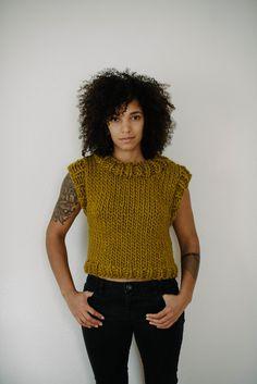 #knitting #handknit #tank #knit #chunkyknits http://www.jengeigley.com/