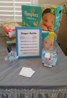 Diaper raffle! Bring a box get a ticket.