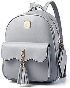 1279522de DWE PU Leather Women Backpack,Black Small School Bag Travel Rucksack for  Teenage Girls (Grey): Amazon.co.uk: Luggage