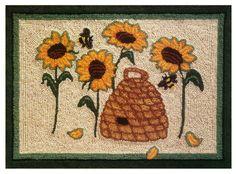 MCG Textiles Bloom N Bee Rug Yarn Punch Needle Kit