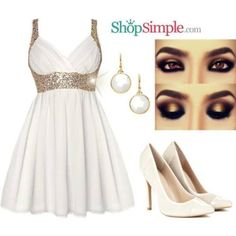 White Elegant Outfit #ShopSimple