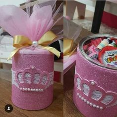 42 ideas for baby shower souvenirs ideas mickey mouse Tea Party Baby Shower, Baby Shower Games, Baby Shower Souvenirs, Mickey Mouse Clubhouse Birthday, Aluminum Cans, Best Candy, Foam Crafts, Childrens Party, Girl Shower