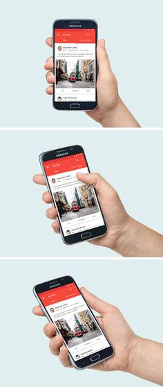 скачано Here is a photorealistic Samsung Galaxy S6 PSD mock-up to help you display your Android app or webpage in...