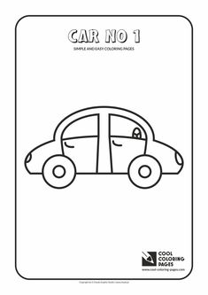 Simple and easy coloring pages for toddlers - Car no 1