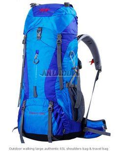 d749f2081d3f Outdoor walking large authentic 65L shoulders bag   travel bag Trekking