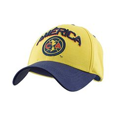 2e5020c99a97a Club America Soccer Hat Cap Yellow Blue FMF Mexico Soccer... Mexico Soccer