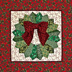 ~ Quilted Holiday Dresden Wreath ~ Would do a different color for boarder....