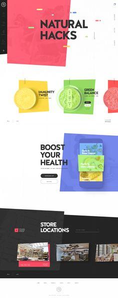 Bo's Kitchen - Ui design colorful concept by Creative Studio.