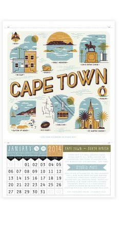 Cape Town! -  Wish You Were Here - 2014 Charity Calendar