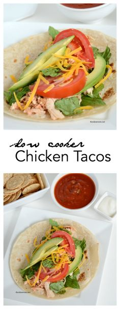 Slow Cooker Chicken Tacos - The Idea Room