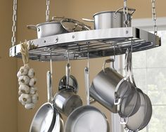 """All Clad Oval Hanging Pot Rack, 36""""   Williams-Sonoma"""