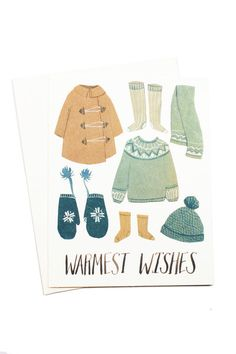 Brrrrr! It's so cold in WA this week. We could really use your warm wishes, or the real version of these cute illustrations!