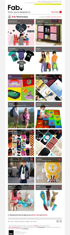 @Fab emails are the best! So much color and cool products #pinyourinbox