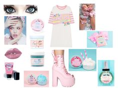 """""""Pink Sugarmilk"""" by firefly-frost ❤ liked on Polyvore featuring Lime Crime, Sugar Milk Co, Butter Toki, Y.R.U. and LASplash"""