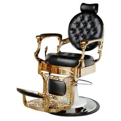 """Theodore"" golden barber chair - ""theodore"" golden barbershop chair, ""theodore"" barber shop chairs in gold color Barber Equipment, Salon Equipment, Barber Shop Chairs, Barber Shop Interior, Hair Salon Chairs, Lipstick Style, Straight Razor Shaving, Shampoo Bowls, Stylish Haircuts"